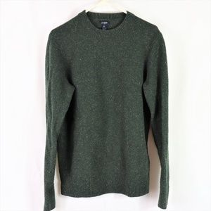 J CREW 80% LAMBSWOOL SWEATER SIZE MED TALL